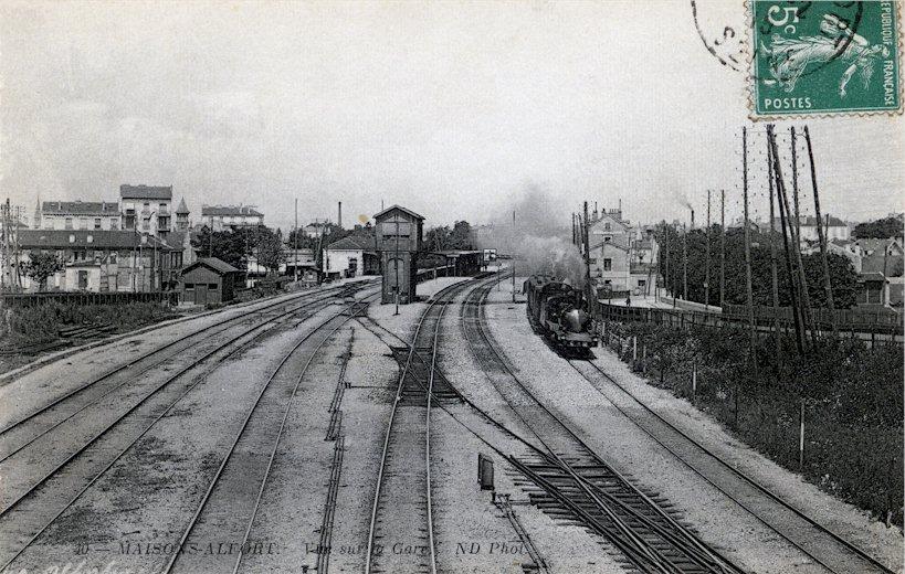 Les voies de la gare de Maisons-Alfort