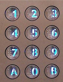Interphone Urmet clavier Braille
