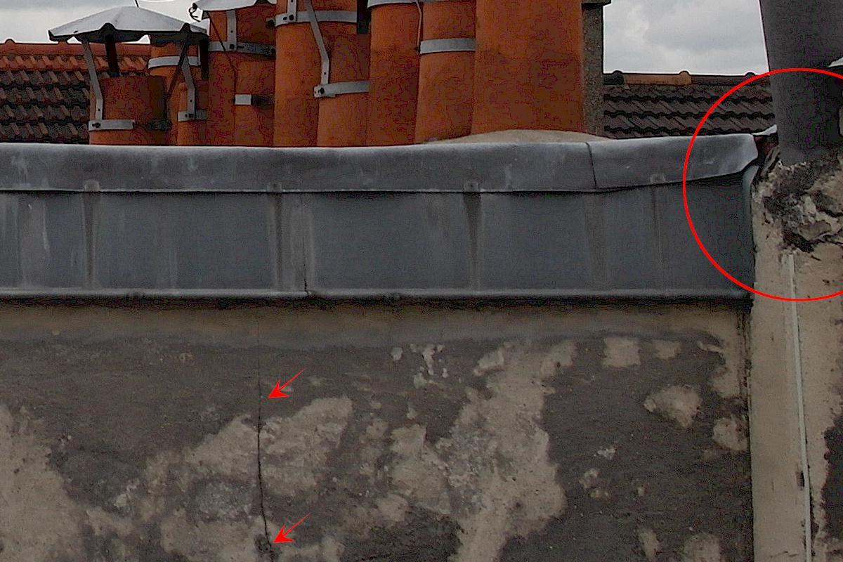 A toit espace intra degradé